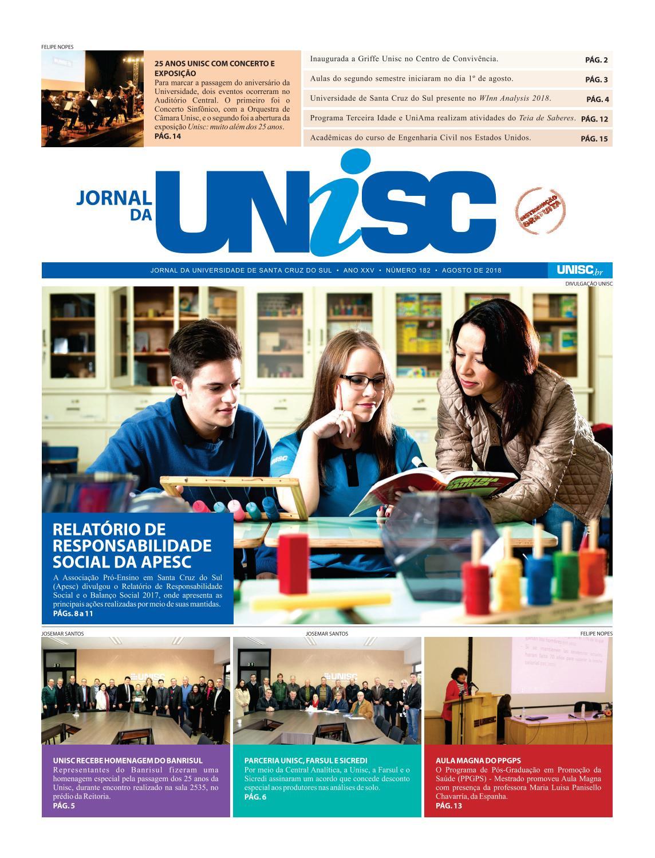 4a84ac9fdf Jornal da Unisc 182 by UNISC Santa Cruz do Sul - issuu