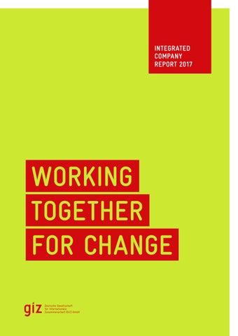 GIZ Integrated Company Report 2017 by Deutsche Gesellschaft für