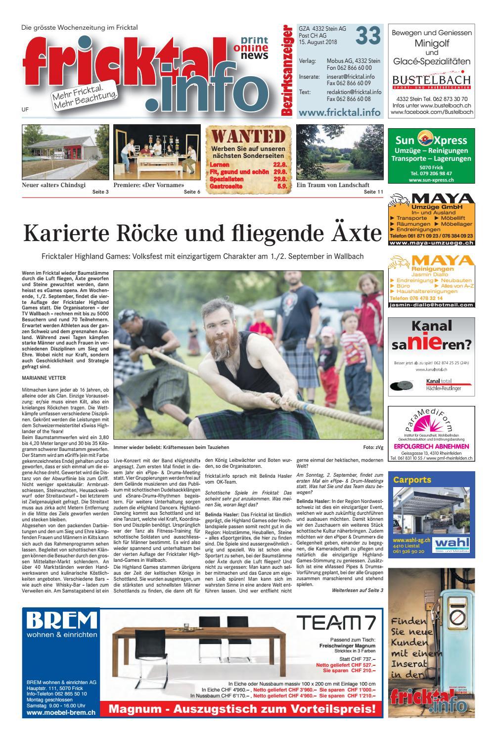 fricktal.info Ausgabe 33_2018 by Mobus AG - issuu