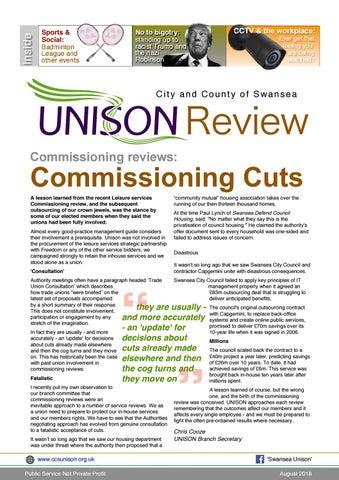 August Newsletter by Swansea Unison - issuu