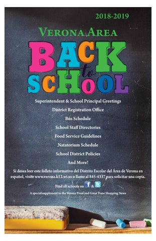2018 Verona Back To School By Woodward Community Media