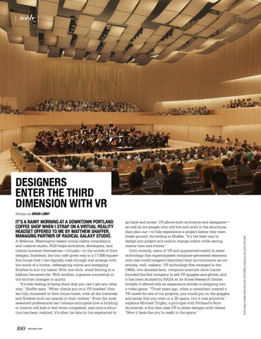 Page 100 of Designers Enter the Third Dimension With VR