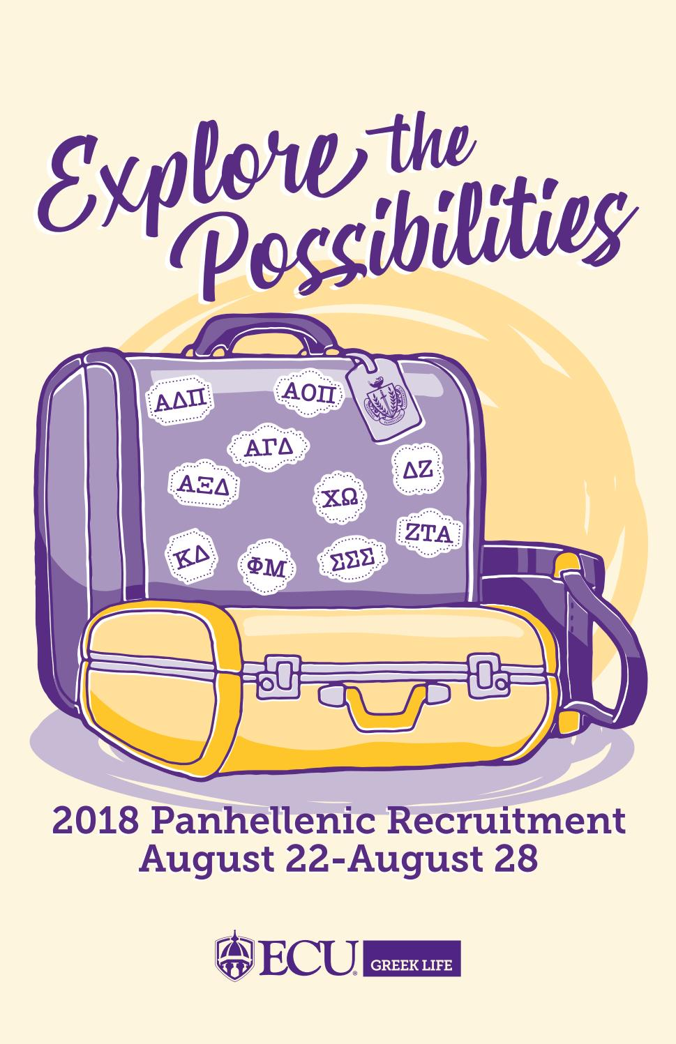 Panhellenic Recruitment Booklet 2018 by ECU Student Affairs