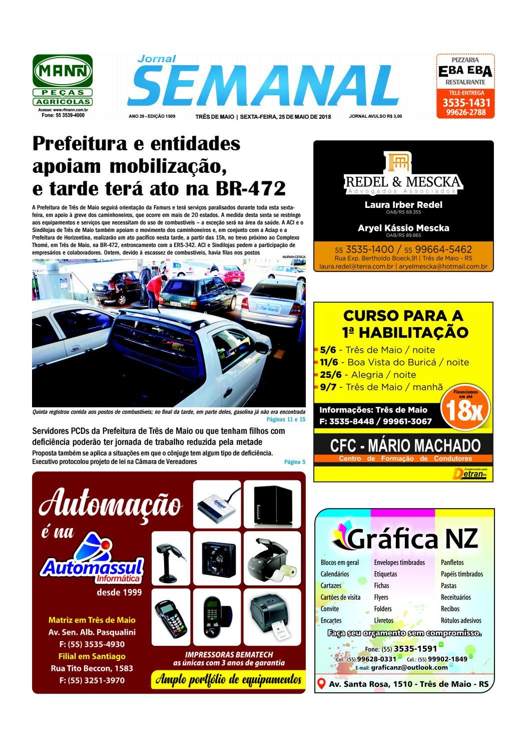 0bcb8cdebf4 Semanal 25 de maio de 2018 - Ed. 1509 by JORNAL Semanal - issuu