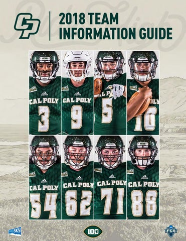 df0a8d447 2018 Cal Poly Football Team Information Guide by Cal Poly Athletics ...