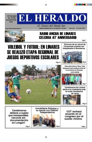 21474fab64 Miercoles 15 de agosto 2018 by diario heraldo de linares - issuu