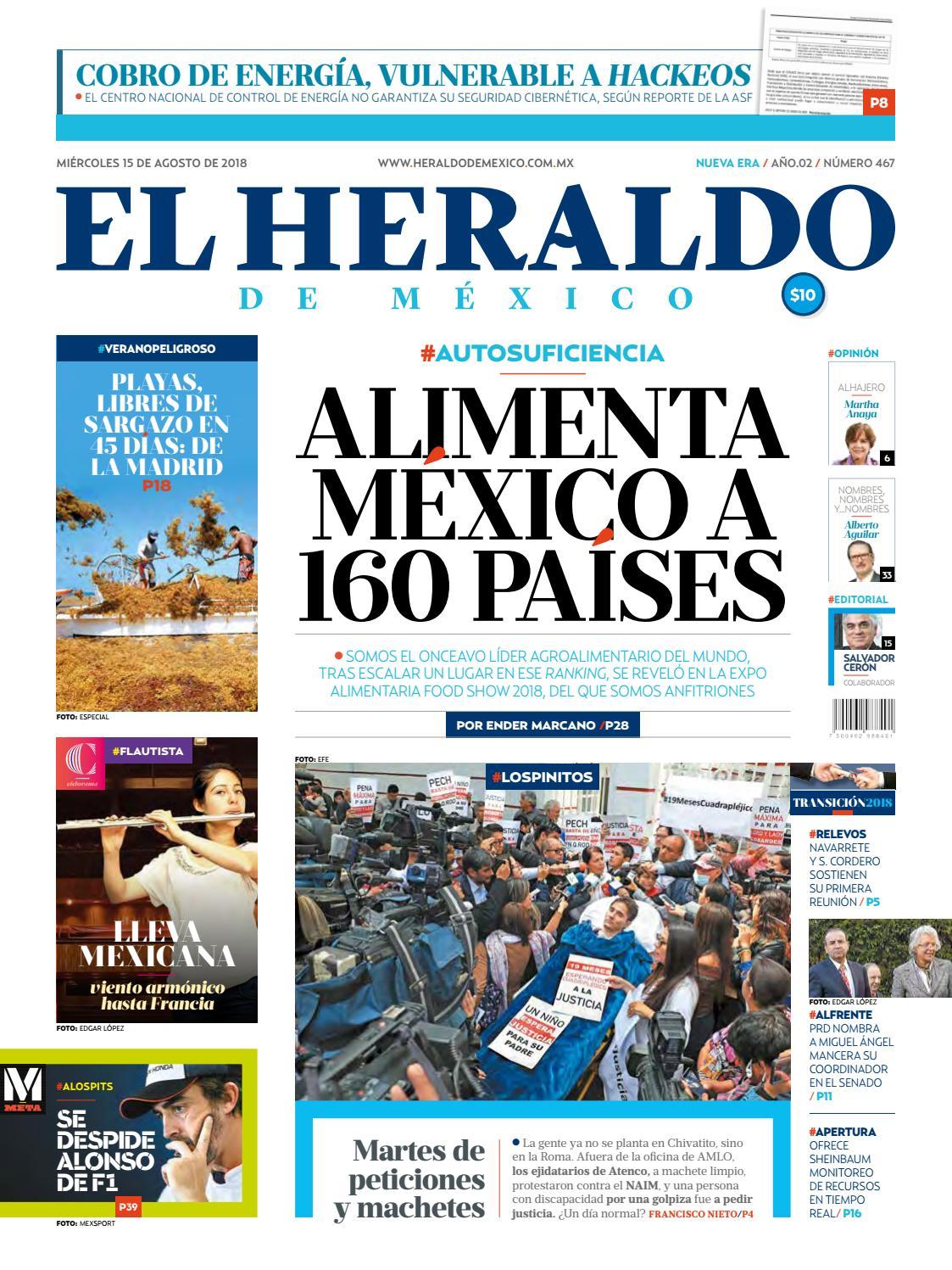 15 de agosto de 2018 by El Heraldo de México - issuu 4e9b5c017b8e3