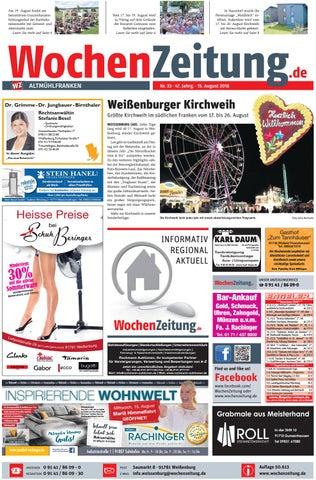 WochenZeitung Altmühlfranken KW 33.18 By WochenZeitung ...