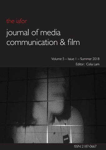 IAFOR Journal of Media, Communication & Film: Volume 5 Issue 1 by