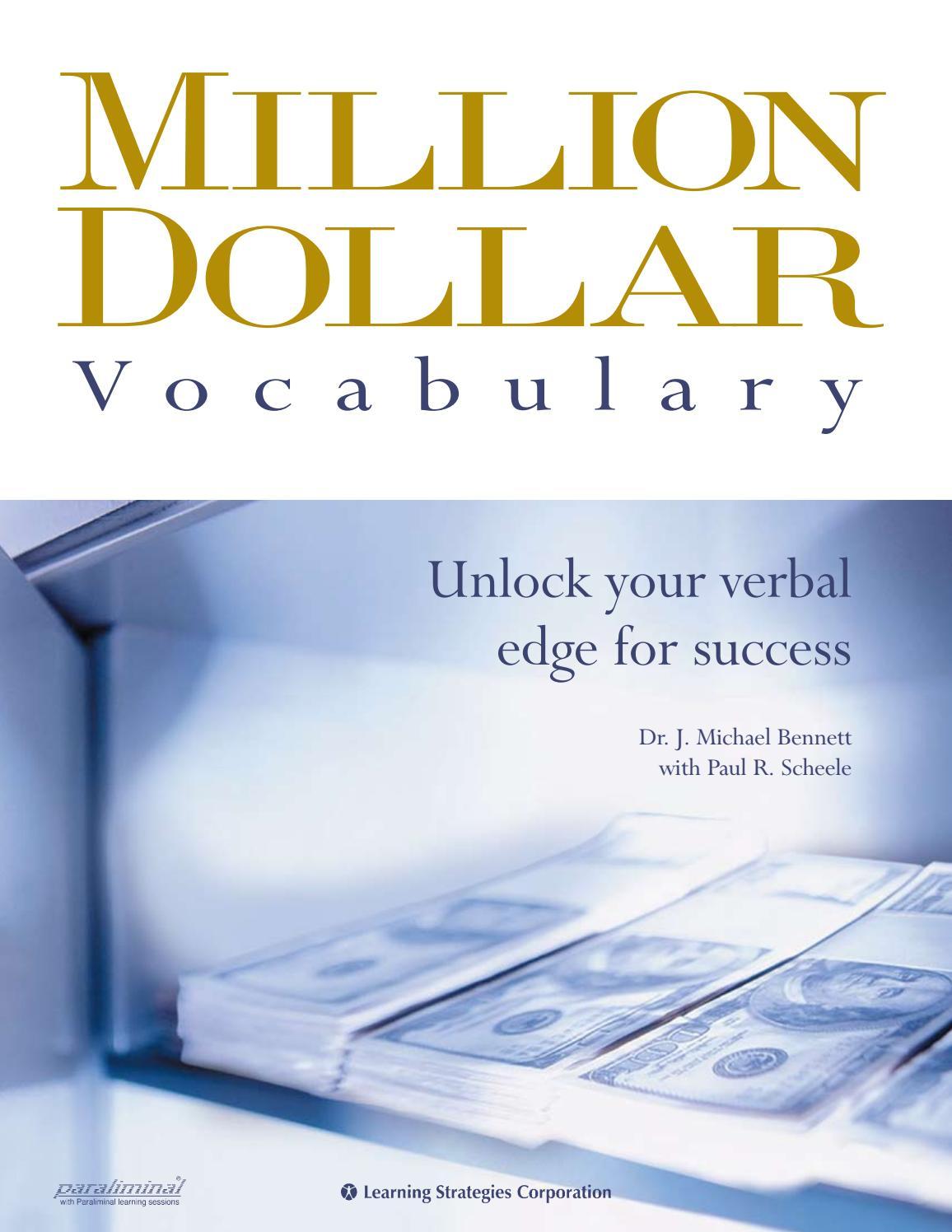 Million Dollar Vocabulary Manual by Serhat Çimen - issuu