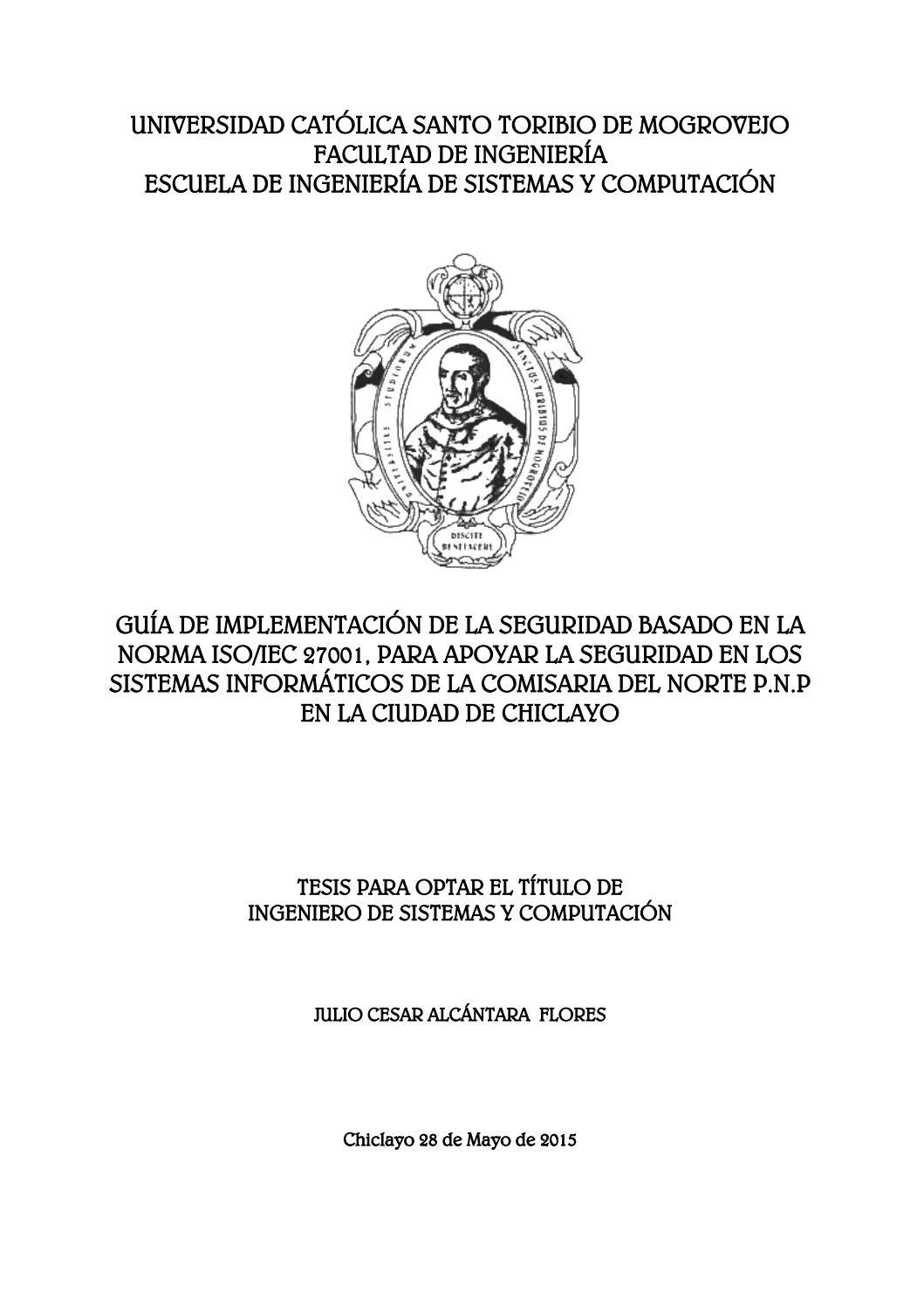 IMPLEMENTACION DE LA SEGURIDAD BASADO EN LA NORMA ISO27001 PARA ...