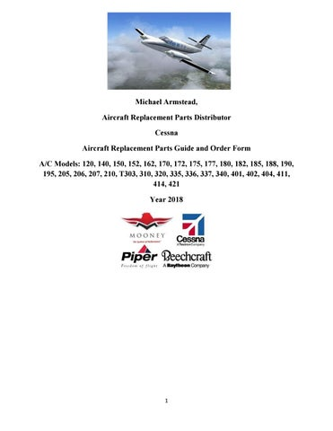 Cessna Aircraft Replacement Parts Guide and Order Form by