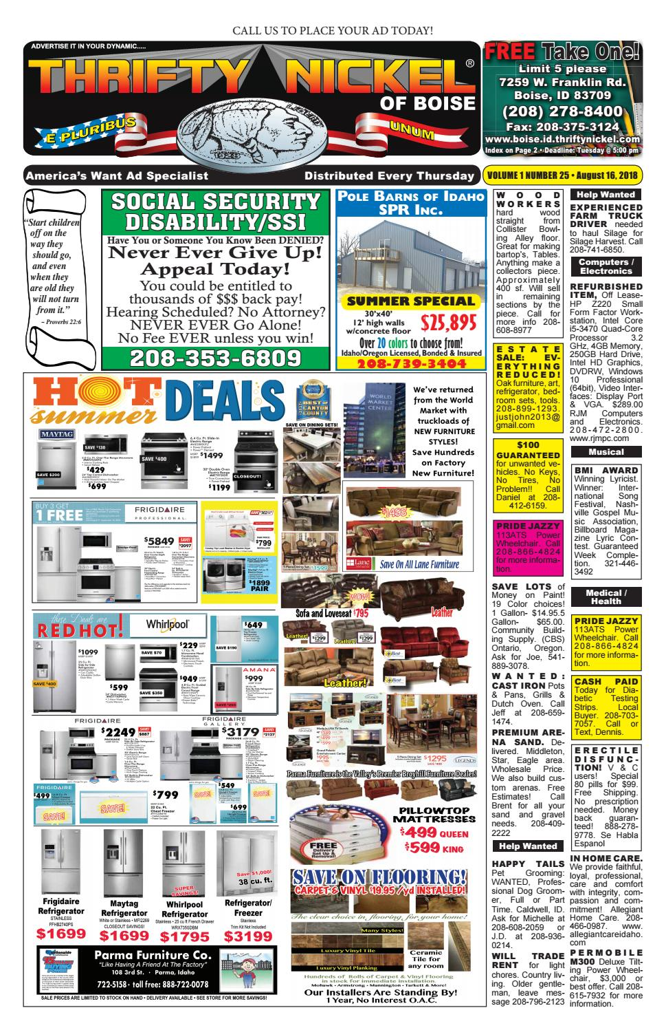 Boise Thrifty Nickel 08/16/18 by tvdist - issuu