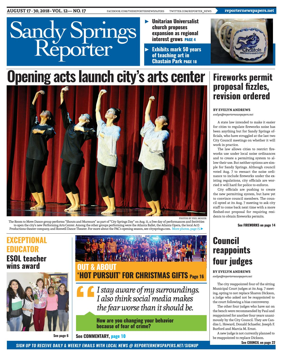 08-17-18 Sandy Springs Reporter by Reporter Newspapers - issuu