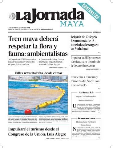 65ee33e89f La Jornada Maya · jueves 16 de agosto de 2018 by La Jornada Maya - issuu