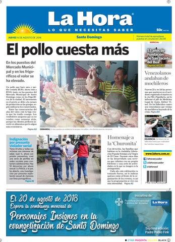 Santo Domingo 16 de agosto de 2018 by Diario La Hora Ecuador - issuu 253c5ac92a4