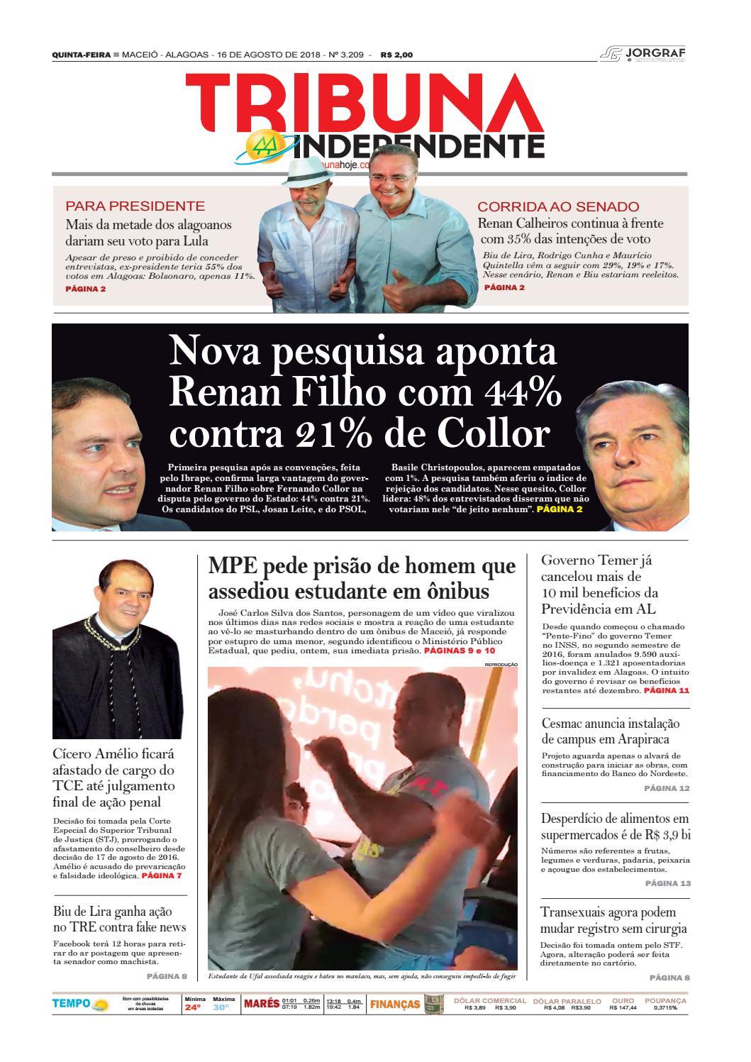 Edição número 3209 - 16 de agosto de 2018 by Tribuna Hoje - issuu 4c22c525827f9