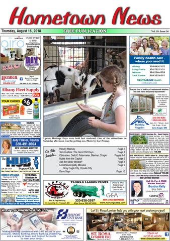 Hometown News August 16, 2018 by Hometown News - issuu