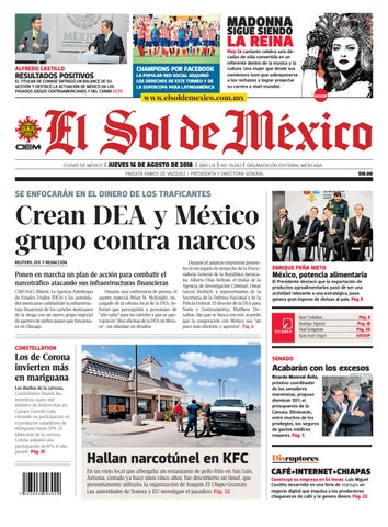 9f77330a42d2a El sol de México 16 de agosto del 2018 by El Sol de México - issuu