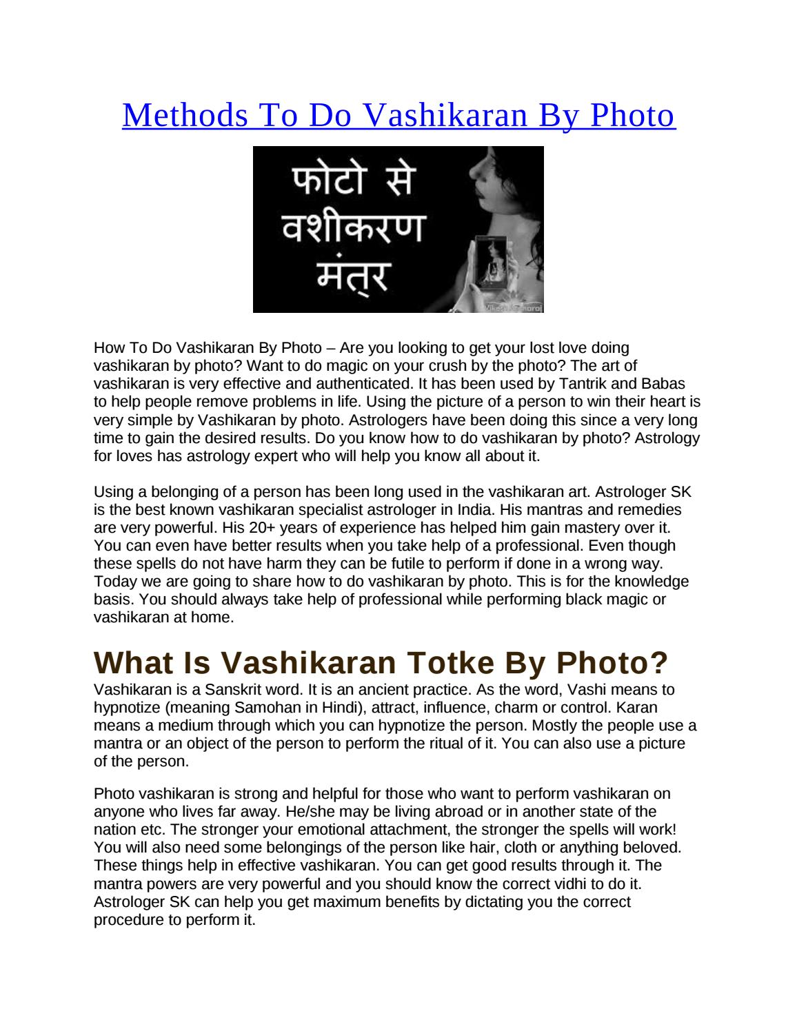 Vashikaran by Photo by astrology5213 - issuu