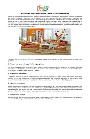 A Guide To Simple Home Decor Accessories Online Should You Decors In India Or At Department S While Itâ X20ac X2122 True