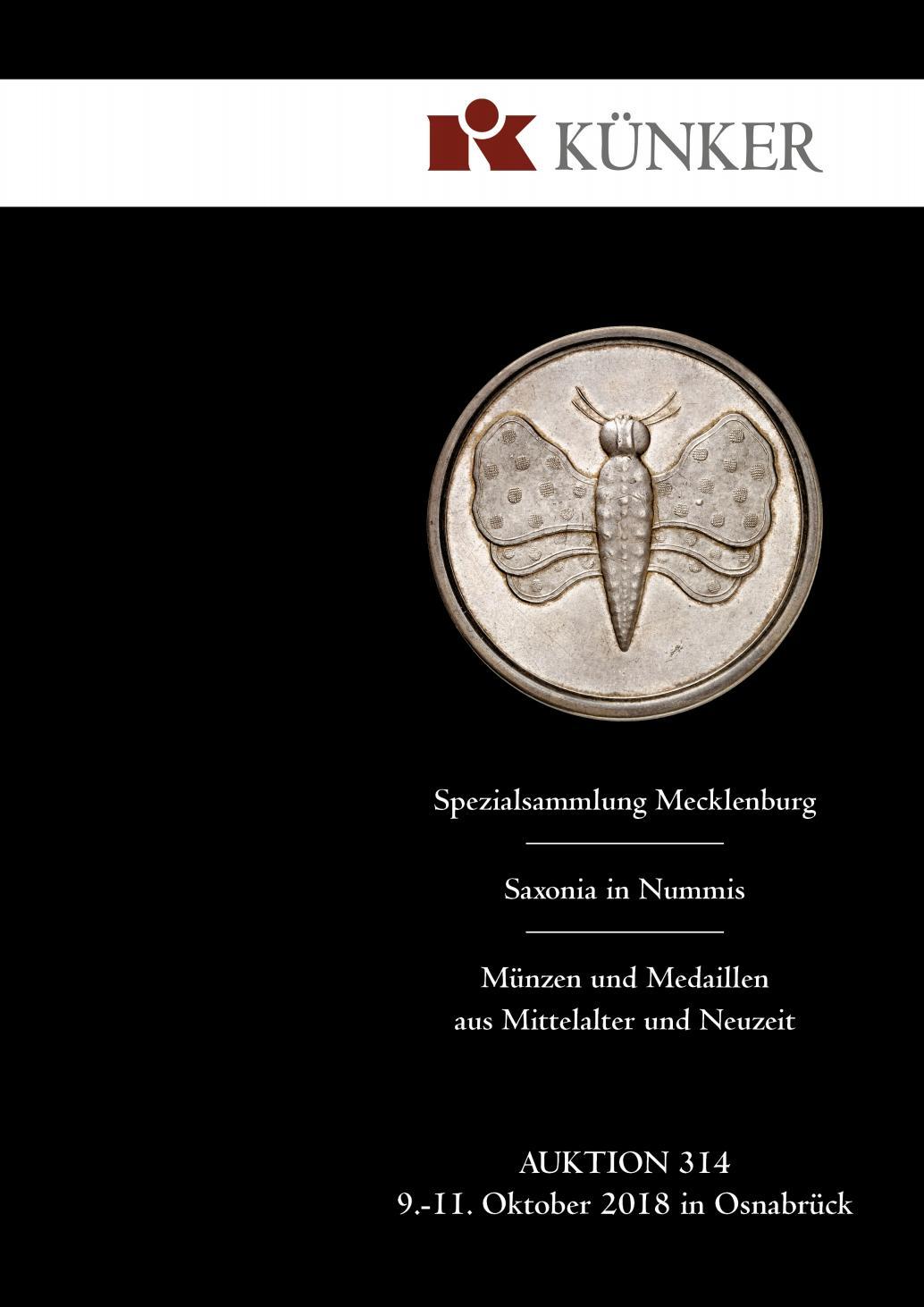 Künker Auktion 314, Teil 2 Münzen und Medaillen aus