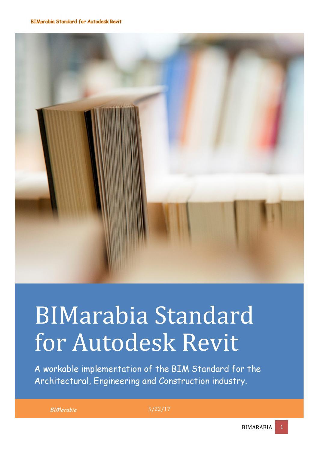Bimarabia Standard For Autodesk Revit V1 0 By Bim Arabia Issuu