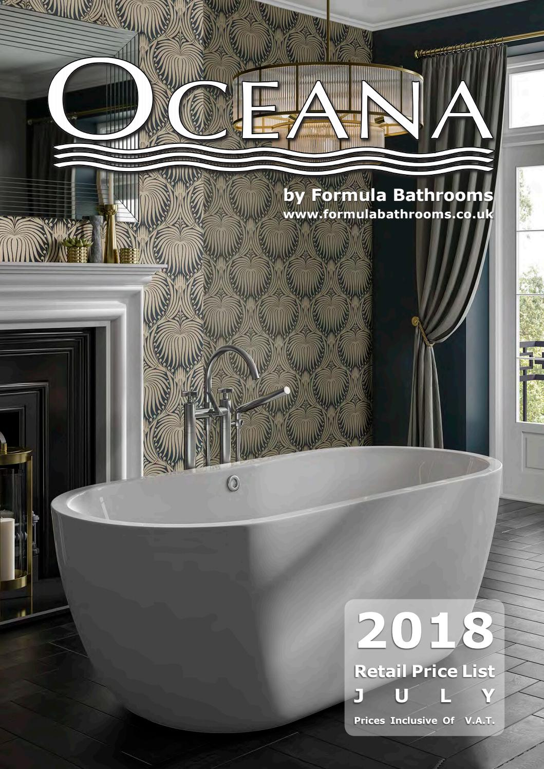 Oceana By Formula Bathrooms 340 Page Product Catalogue July 2018