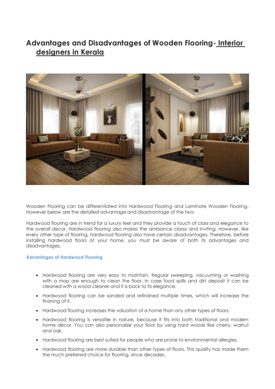 Advantages And Disadvantages Of Wooden Flooring Interior Designers In Kerala By Monnaie Offpage Issuu