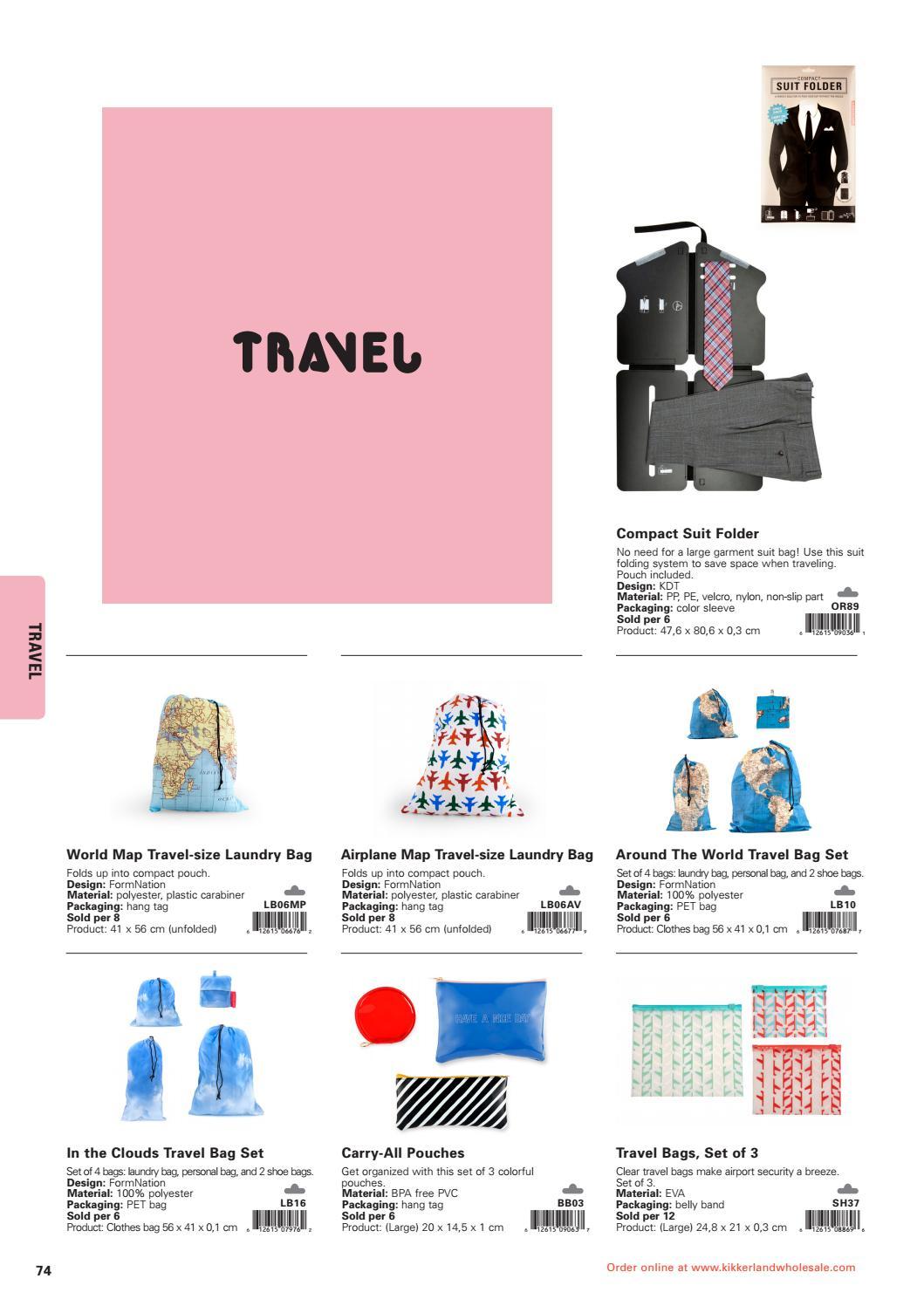 Airplane Kikkerland Travel Laundry Bag