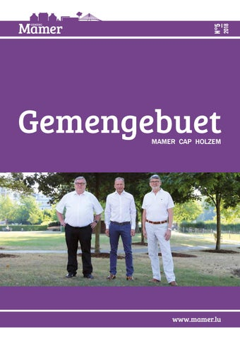 Gemengebuet 052018 By Administration Communale Mamer Issuu