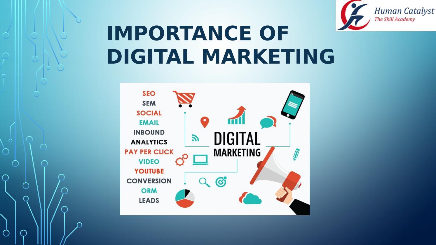 DIGITAL MARKETING PPT| importance of digital marketing by