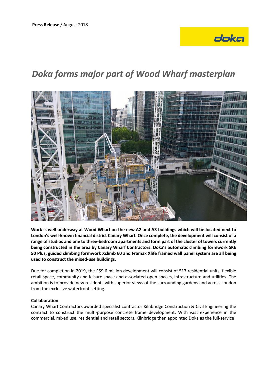Doka forms major part of wood wharf masterplan by Doka - issuu