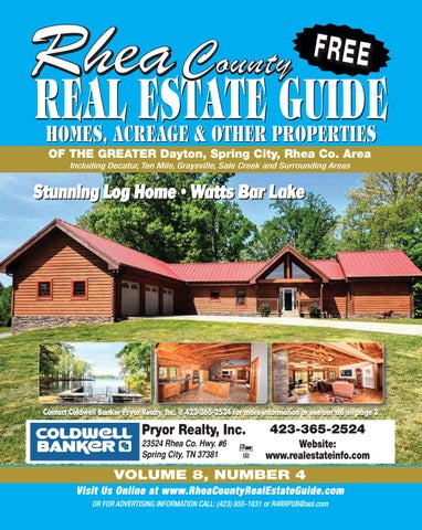 Rhea County Real Estate Guide v8n4 by R&R Publishing - issuu