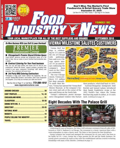Food Industry News, September 2018 web edition by FoodIndustryNews