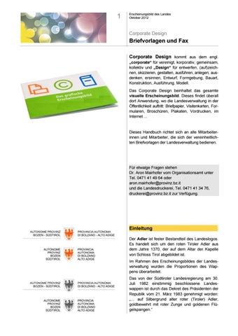Kleines Handbuch Zu Briefvorlagen Und Fax By Land Südtirol