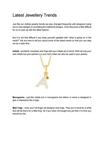 67fdea45c Latest Jewellery Trends Just like our clothes jewelry trends are also  changed frequently with designers trying out on new designs or recreating  the ...