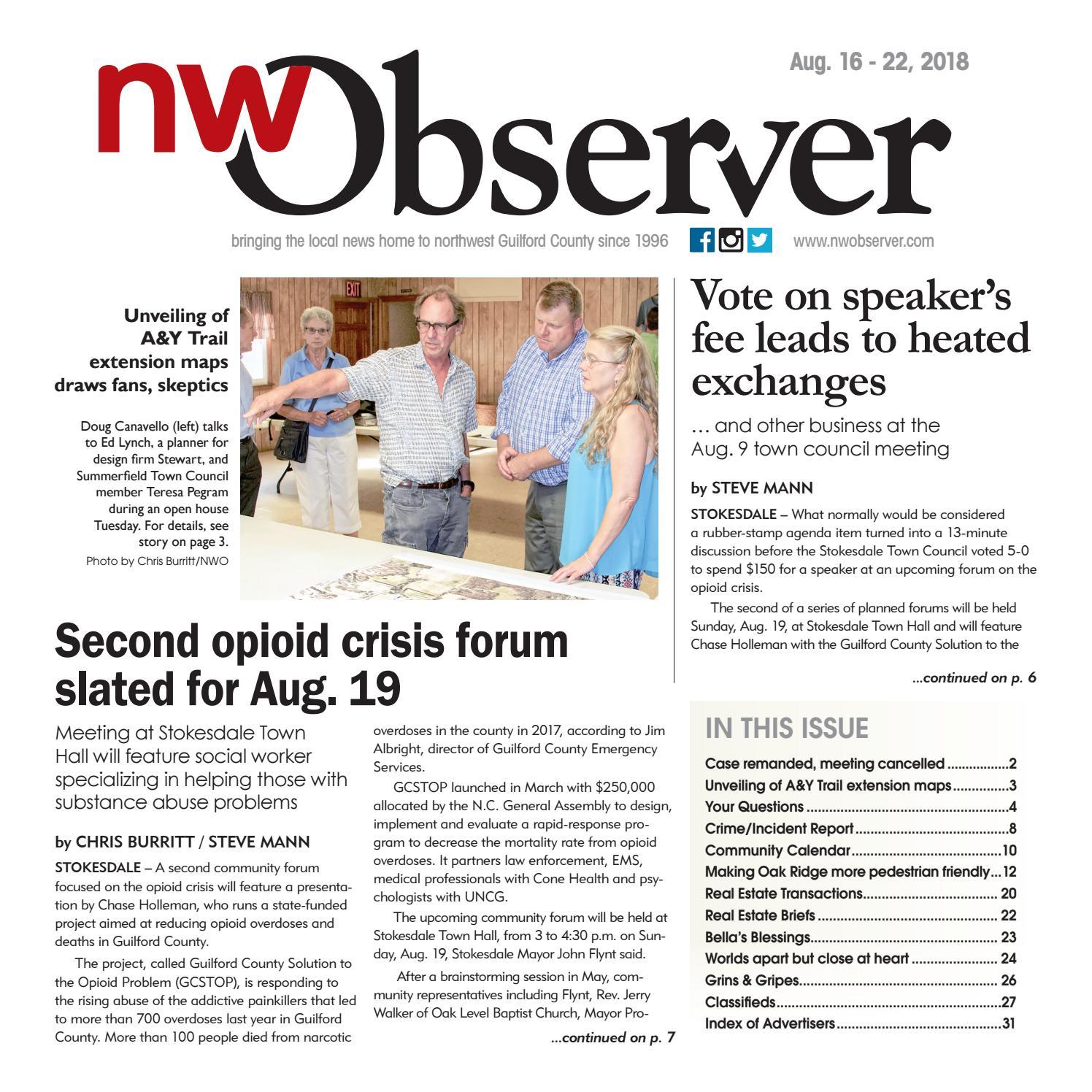 Northwest Observer I Aug  16 - 22, 2018 by pscommunications