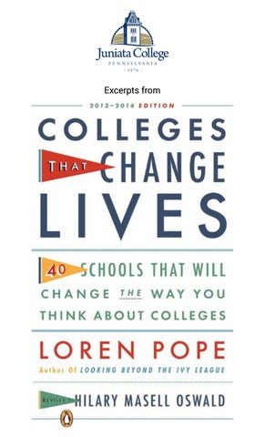 "Cover of ""Colleges That Change Lives"" by Loren Pope"