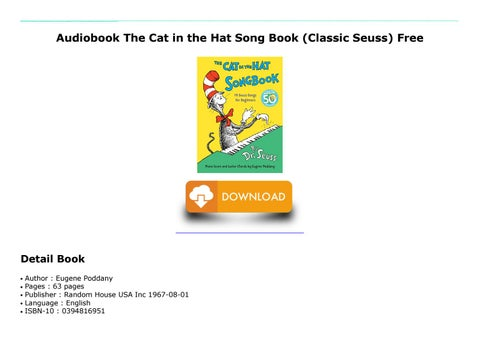 pdf the cat in the hat song book classic seuss epub by hubii