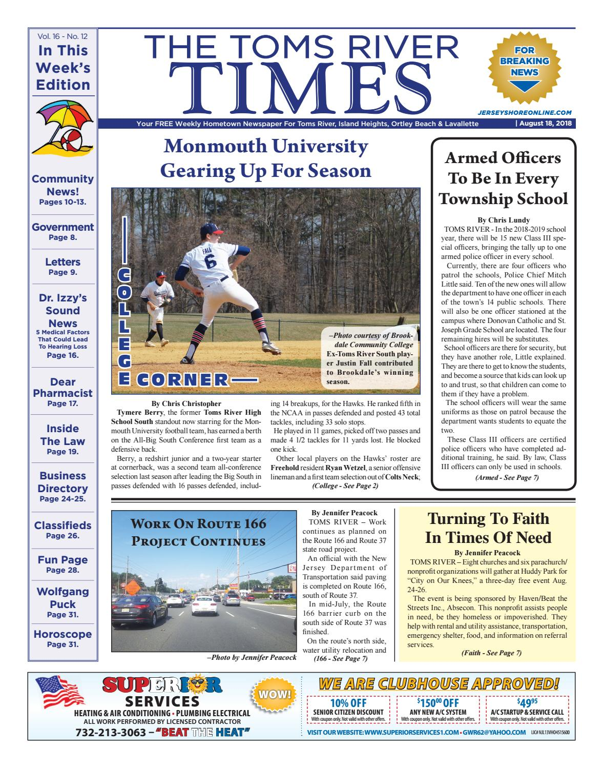 272d604720729 2018-08-18 - The Toms River Times by Micromedia Publications Jersey Shore  Online - issuu
