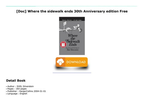 Doc where the sidewalk ends 30th anniversary edition free by readdownloading pdf t readdownload book pdf t readdownload online t readdownload doc where the sidewalk ends 30th anniversary fandeluxe Choice Image