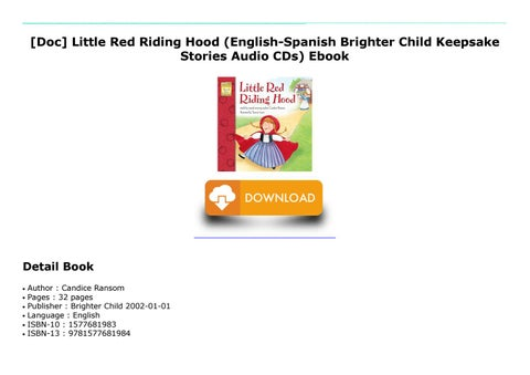 Doc Little Red Riding Hood English Spanish Brighter Child