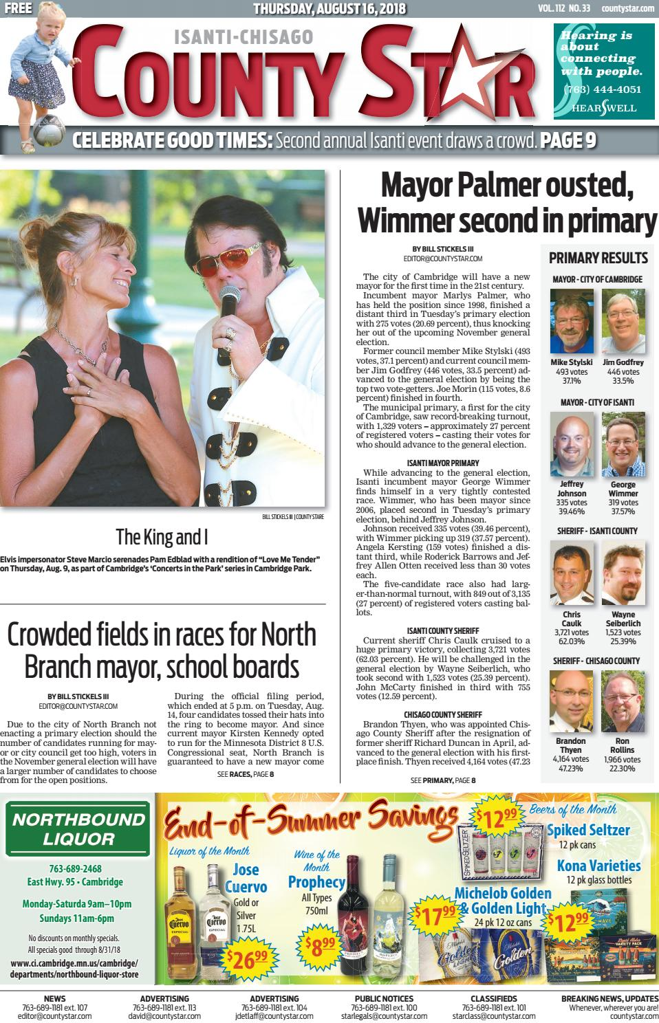 Isanti-Chisago County Star August 16, 2018 by Isanti-Chisago