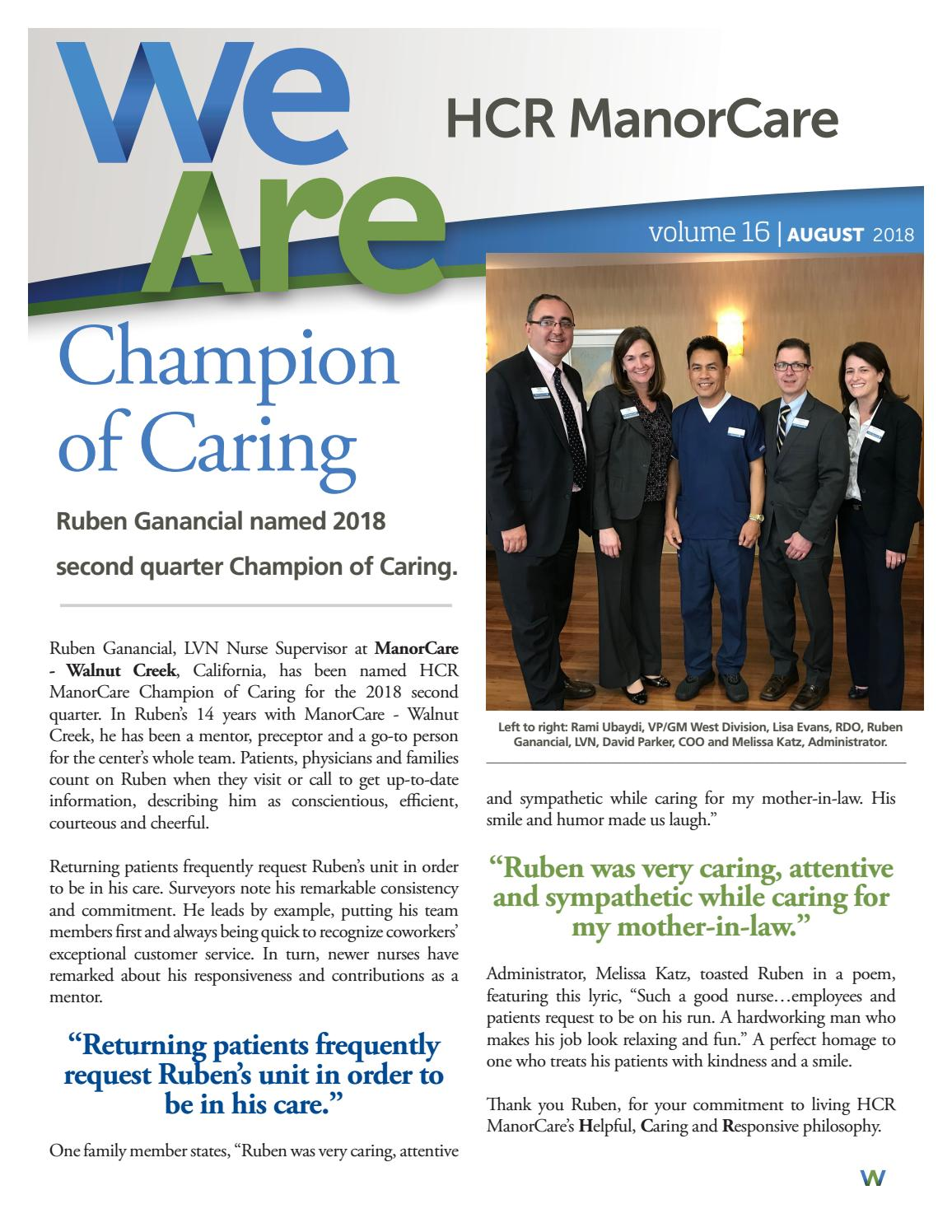 We Are Hcr Manorcare August 2018 By We Are Hcr Manorcare Issuu