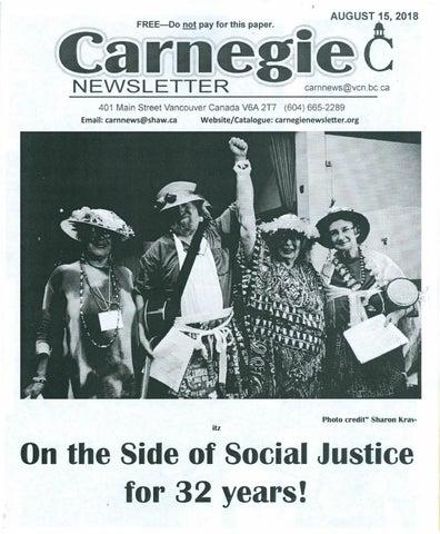 August 15, 2018 Carnegie Newsletter by Carnegie Newsletter - issuu