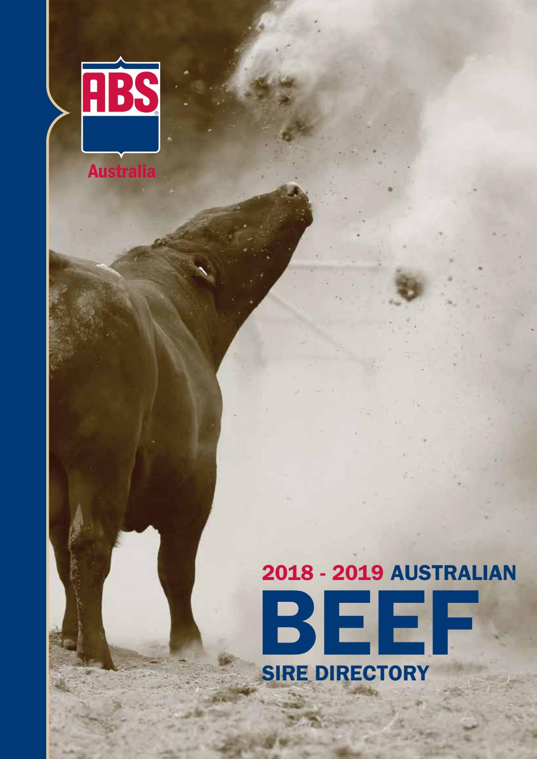 9c37d58ed8d40 ABS Australia 2018-19 Beef Sire Directory by ABS Global, Inc. - issuu