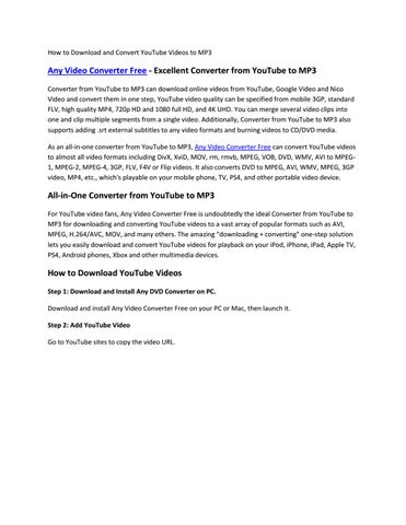 How to Download and Convert YouTube Videos to MP3 by Paris Young - issuu