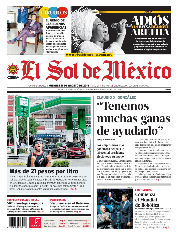 El Sol de México 17 de agosto 2018 by El Sol de México - issuu 75ce6b2b34a