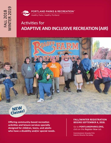 71d2e193f86197 Adaptive and Inclusive Recreation (AIR) Fall Winter activities 2018